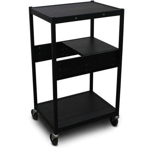 Our Vizion Spartan Series Classroom Media Projector Cart with One Pull-Out Side-Shelf - Black is on sale now.