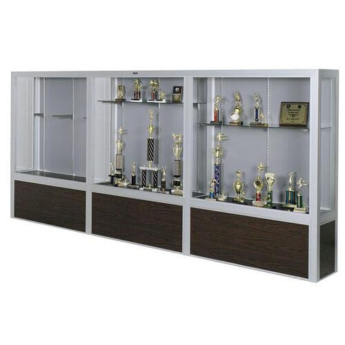 Premiere Series Freestanding 3 Door Display Case with Wood Base - 144