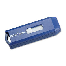 Verbatim 8GB USB Flash Drive - Blue - 8 GB - USB - Blue - Retractable, Capless