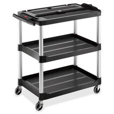 Rubbermaid Commercial Products Commercial Open 3-shelf Audio-Visual Cart - 19.2