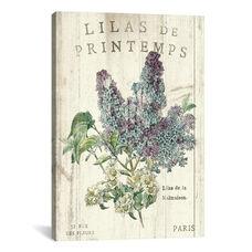 Lilas de Printemps by Sue Schlabach Gallery Wrapped Canvas Artwork