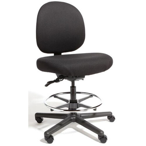 Triton Max Large Back Mid-Height Drafting Cleanroom Chair with 500 lb. Capacity - 4 Way Control