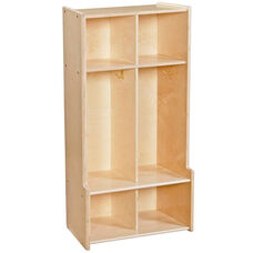Contender 2 Section Seat Locker with Storage Hooks - Unassembled - 24''W x 14''D x 46.75''H