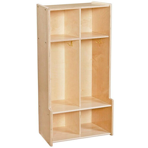 Our Contender 2 Section Seat Locker with Storage Hooks - Unassembled - 24
