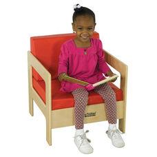 Birch Hardwood Preschool Living Room Set Chair with 2