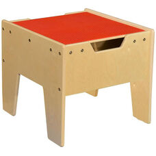 LEGO™ Compatible Reversible Table with Red Top - Assembled - 18.63