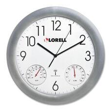 Lorell Analog Temperature/Humidity Wall Clock - 12