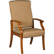 Florin 300 lb. Capacity High Back Guest Chair - Vinyl Upholstery