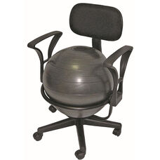 CanDo® Metal Frame Mobile Ball Chair with Back and Arms