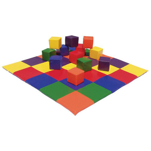 Our Ultra-Soft Phthalate Free Preschool Patchwork Floor Mat with 5.5
