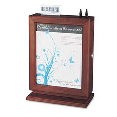 Safco® Customizable Wood Suggestion Box - 10 1/2 x 5 3/4 x 14 1/2 - Mahogany