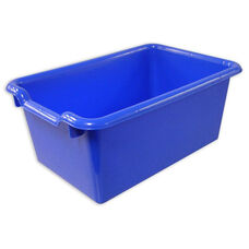 Versatile Scoop Front Plastic Storage Bins - Blue - 11.5