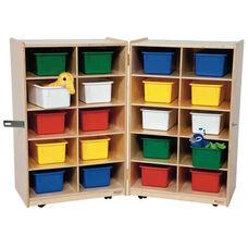 20 Tray Folding Storage with 20 Multi-Colored Storage Trays - 24-48