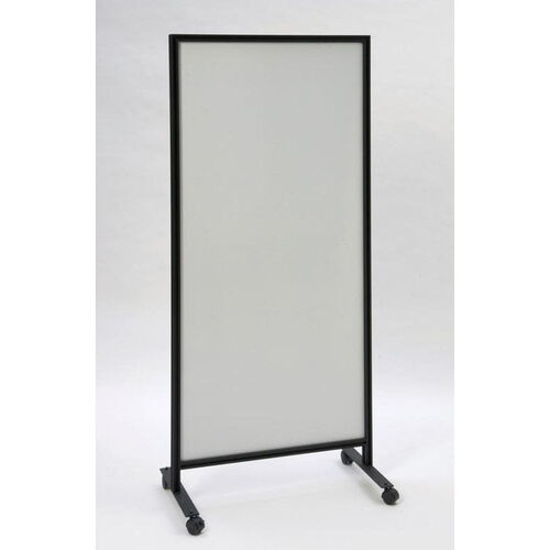 Our 490 Series Mobile Double Sided Markerboard with Black Powder Coated Aluminum Frame - 30