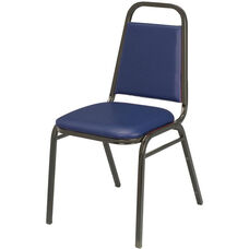 800 Series Stacking Armless Hospitality Chair with Trapezoid Back and 1.5'' Vinyl Seat