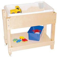 Petite Sand and Water Sensory Table with Top/Shelf - 28