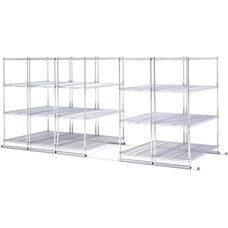X5 Preconfigured Kit 5 Units Four Shelf Units with Tracks Included