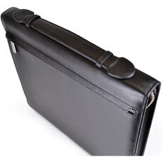 James Zippered Writing Portfolio - Top Grain Nappa Leather - Black