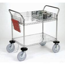Chrome 2 Shelf Computer/Instrument Cart - 24