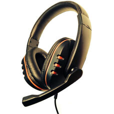iHear Durable Padded Headset with Built-In Rotating Microphone and Plug-and-Play USB Cable