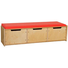 Contender Wooden Reading Bench with 3 Drawers - Unassembled - 46.75