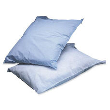 Medline Poly Tissue Disposable Pillowcases - Blue