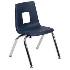 Advantage Navy Student Stack School Chair - 14-inch
