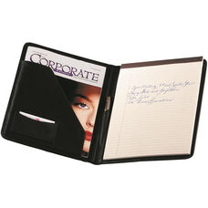 Writing Padfolio - Faux Leather - Black