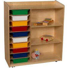 Sensorial Discovery Mobile Shelving Unit with 10 Assorted Plastic Letter Trays - 36
