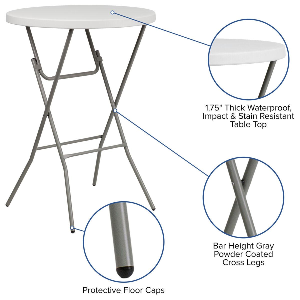 32rd White Plastic Fold Table Rb 32rb Bar Gw Gg
