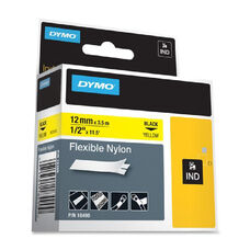 Dymo Rhino PRO Flexible Wire and Cable Label Tape - 11.50 ft Length - White