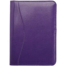 Junior Writing Padfolio - Genuine Leather - Plum