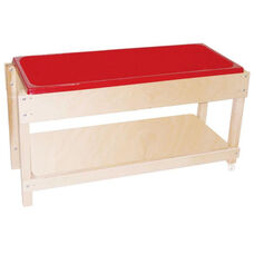 Sand and Water Table with Lid/Removable Shelf and 2 Castered Legs - 46