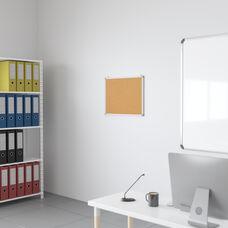 "HERCULES Series 23.5""W x 17.75""H Natural Cork Board with Aluminum Frame"