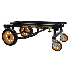 Advantus 500 lb Capacity 8-in-1 Multi-Cart with Two Locking Swivel Casters - Yellow and Black