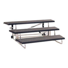 Wide Transfold Carpeted Choral Riser with Built-in Wheels - 72