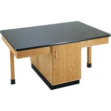 4 Station Wooden Science Table with 1