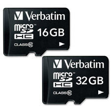 Verbatim 16GB Premium MicroSDHC Memory Card with Adapter, Class 10