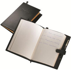 Writing Journal - Sedona New Bonded Leather - Black