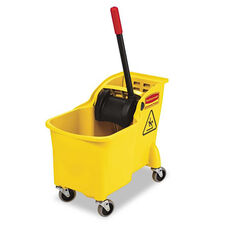 Rubbermaid® Commercial Tandem 31qt Bucket/Wringer Combo - Yellow