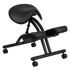 Ergonomic Kneeling Office Chair with Black Saddle Seat