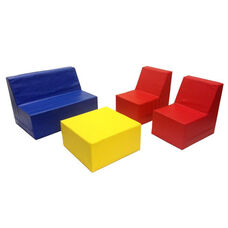SoftZone® 4 Piece Fully Assembled Youth Seating and Table Set - Assorted Colors