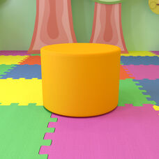 """Large Soft Seating Collaborative Circle for Classrooms and Common Spaces - Yellow (18"""" Height x 24"""" Diameter)"""