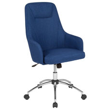Rennes Home and Office Upholstered High Back Chair in Blue Fabric