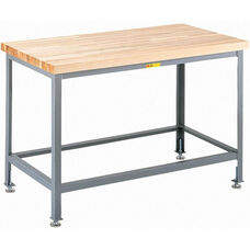 Butcher Block Top Work Table with Leg Levelers