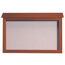 Cedar Top Hinged Single Door Plastic Lumber Message Center with Vinyl Surface - 30