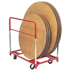 Steel Frame Round Folding Table Mover with 6