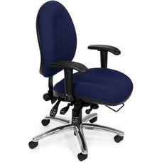 24 Hour Big & Tall Computer Task Chair - Blue