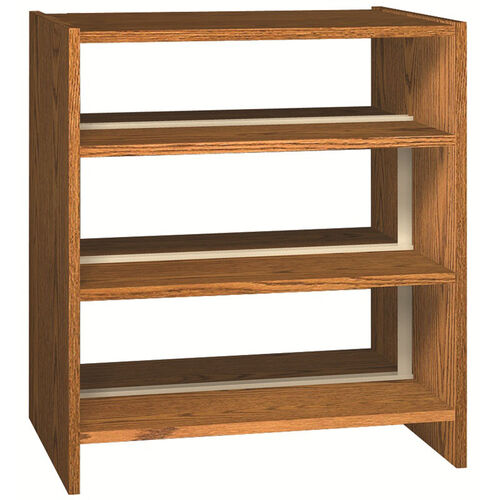 Glacier Series 3-Shelf Double Sided Bookcase Starter