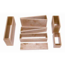Empire Builders 18 Piece Hollow Block Set in Natural Wood